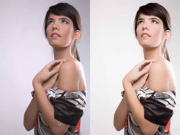antes y después de retocar